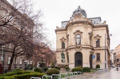 大城市Ervin萨博图书馆是最大的图书馆网络在布达佩斯,匈牙利 免版税图库摄影