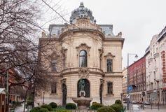 大城市Ervin萨博图书馆是最大的图书馆网络在布达佩斯,匈牙利 图库摄影