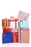 大堆圣诞节礼物 免版税库存图片