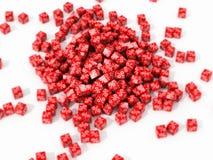 大堆红色立方体 免版税图库摄影
