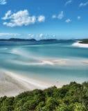 大堡礁,澳大利亚。在的美妙的Whitehaven海滩 免版税库存照片