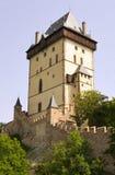大塔- Karlstejn城堡 库存照片
