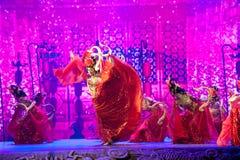 大塘Yueji--历史样式歌曲和舞蹈戏曲不可思议的魔术-淦Po 免版税库存照片