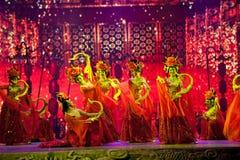 大塘Yueji--历史样式歌曲和舞蹈戏曲不可思议的魔术-淦Po 库存图片