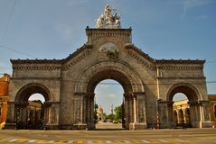 大墓地克里斯托瓦尔Colon入口  免版税库存图片