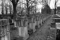 大墓地格但斯克Zaspa,波兰 免版税库存图片