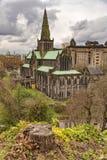 从大墓地的格拉斯哥大教堂 库存照片