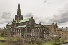 从大墓地的格拉斯哥大教堂 图库摄影
