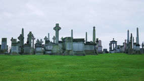 大墓地的看法 免版税库存照片