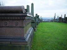 大墓地的看法 库存照片