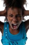 大声尖叫的女孩 免版税库存图片
