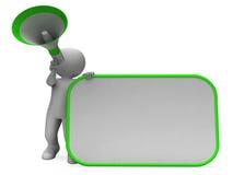 大声的Hailer和招贴展示Copyspace消息或公告 向量例证