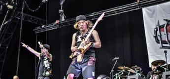 大声金属带生活音乐会2016年, Hellfest节日 免版税图库摄影