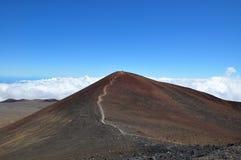 大夏威夷海岛kea mauna山顶 库存照片