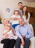 大多代家庭画象  库存照片