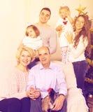 大多代家庭画象  图库摄影