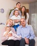 大多代家庭画象  免版税图库摄影