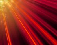 大大小圣诞节和新年心情红灯光芒背景 向量例证