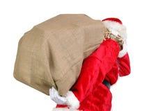 大大袋圣诞老人 库存图片