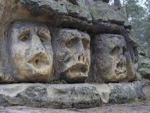 大头在1846年雕刻了由Vaclav征收对沙子石头岩石 免版税库存图片