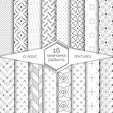大套无缝的样式 古典简单的纹理 规则重复与菱形的几何包裹的表面,星, 库存照片