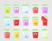 大套色的柠檬水激动 有秸杆的闭合的绿色盖子 玻璃水瓶柑橘饮料冰橙色夏天水 情感象,消息的意思号 免版税库存图片