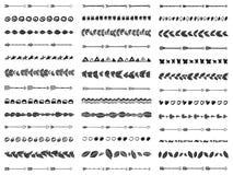 大套39把抽象无缝的刷子阿兹台克boho样式 库存图片