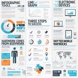 大套infographic元素传染媒介EPS10 免版税库存照片