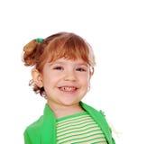 大女孩一点微笑 免版税库存照片