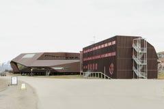 大学中心在斯瓦尔巴特群岛 图库摄影