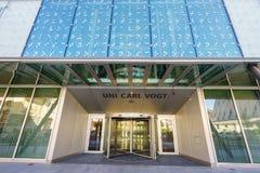 大学卡尔福格特在日内瓦,瑞士 库存照片
