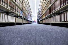大学图书馆看法  免版税图库摄影