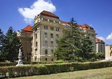 大学教会在德布勒森 匈牙利 免版税库存图片
