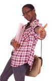 大学生年轻人非裔美国人 免版税库存照片