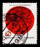 大学蒂宾根, 500年周年serie,大约1977年 免版税库存照片