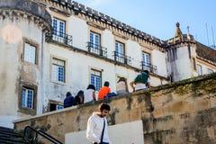大学镇科英布拉,葡萄牙 免版税图库摄影