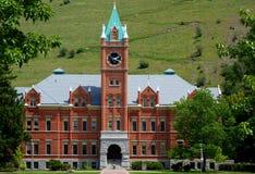 大学霍尔在蒙大拿自1898以来 库存图片