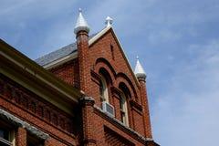 大学霍尔在蒙大拿自1898以来 图库摄影