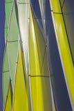 大学医院的绿色,黄色和银色曲线在Gr 免版税图库摄影