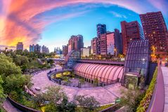 大安区公园驻地在台北 库存图片
