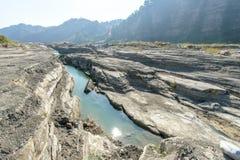 大安区河,台中,台湾峡谷  免版税库存照片