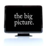 大定义hdtv高照片电视 向量例证
