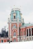 大宫殿的看法在Tsaritsyno公园在莫斯科 库存照片