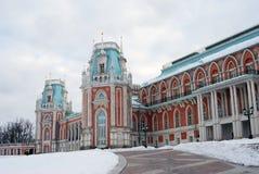 大宫殿的看法在Tsaritsyno公园在莫斯科 图库摄影
