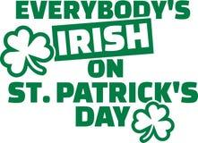 大家` s爱尔兰语在圣帕特里克` s天 库存例证