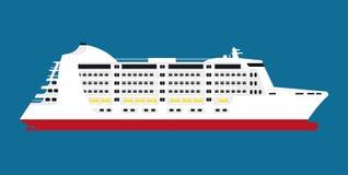 大宽敞白色巡航划线员隔绝了动画片例证 向量例证