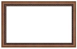 16:9大小框架褐色 图库摄影
