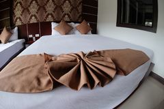 大小的河床旅馆国王豪华空间 免版税库存图片