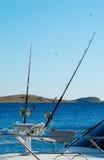 大小船捕鱼比赛体育运动 库存照片