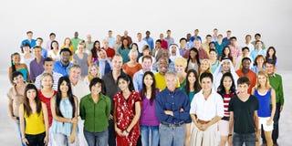 大小组不同种族的人变化概念 免版税图库摄影